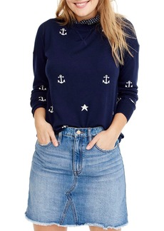 J.Crew Anchors & Stars Merino Wool Crewneck Sweater