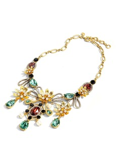 J.Crew Baroque Floral Mixed Gem Statement Necklace