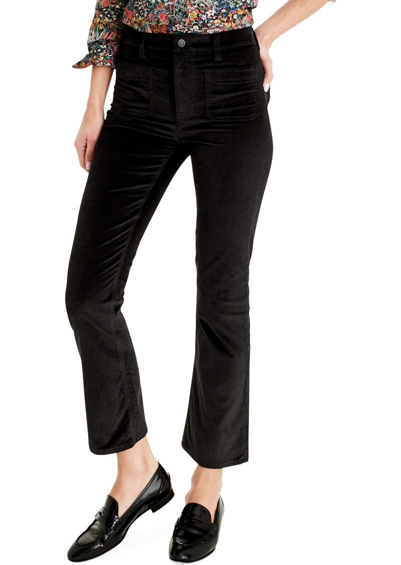 J.Crew Billie Demi-Boot Crop Velvet Jeans (Regular & Petite)