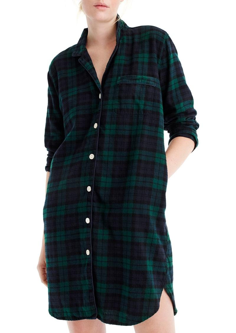 J crew j crew blackwatch flannel sleep shirt for Black watch flannel shirt