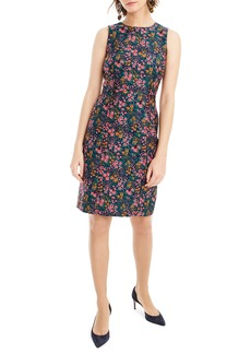 J.Crew Botanic Jacquard Sheath Dress