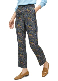 J.Crew Botanical Cheetah Foulard Easy Silk Pants