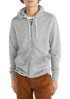 J.Crew Brushed Fleece Zip Hoodie