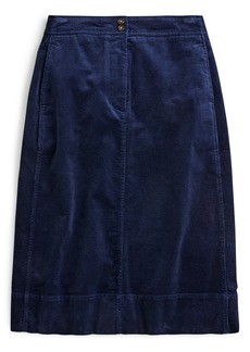J.Crew Button Corduroy Skirt