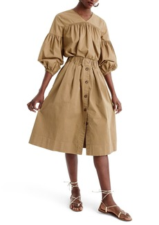 J.Crew Button Front Chino Skirt (Regular & Petite)