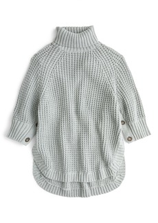 J.Crew Button Sleeve Turtleneck Poncho