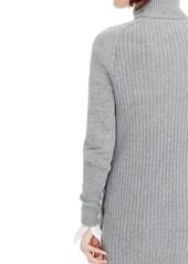 5e2f1b892b3 J.Crew J.Crew Cable Knit Turtleneck Sweater Dress