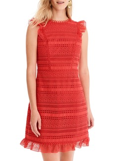 J.Crew Cap Sleeve Ruffle Lace Dress