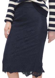 J.Crew Chantilly Lace Pencil Skirt