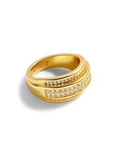 J.Crew Chunky Gold and Pavé Ring