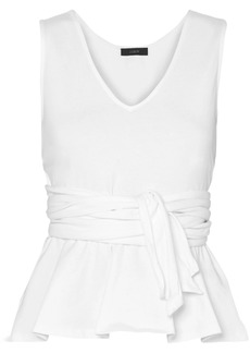 J.Crew Claire Tie-front Cotton-jersey Top