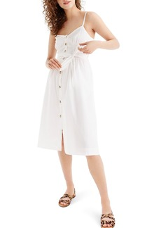 J.Crew Classic Button Front Cotton Poplin Sundress (Regular & Petite)