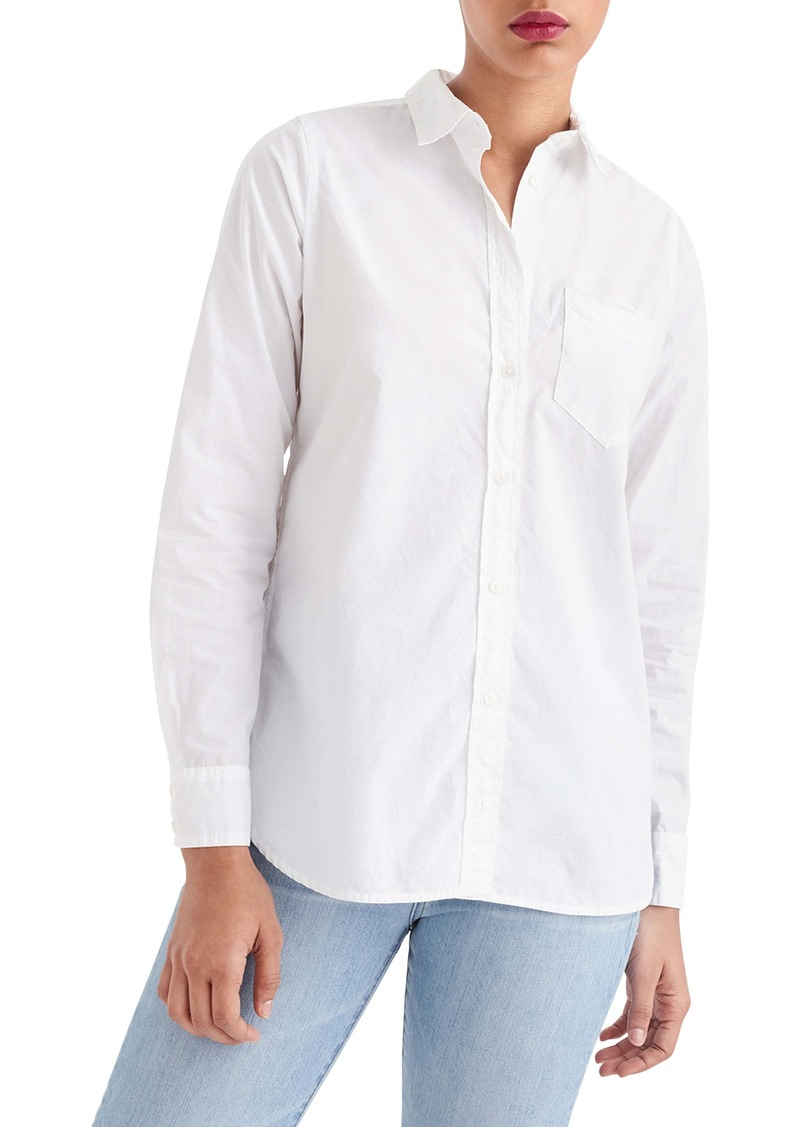 J.Crew Classic Fit Cotton Poplin Boy Shirt