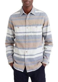 J.Crew Classic Fit Deck Stripe Work Shirt