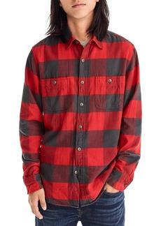 J.Crew Classic Fit Herringbone Flannel Shirt