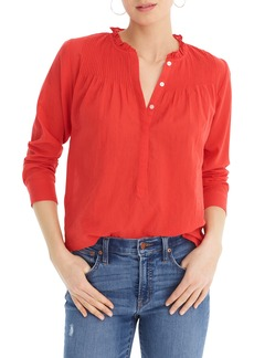 J.Crew Classic Solid Popover Shirt