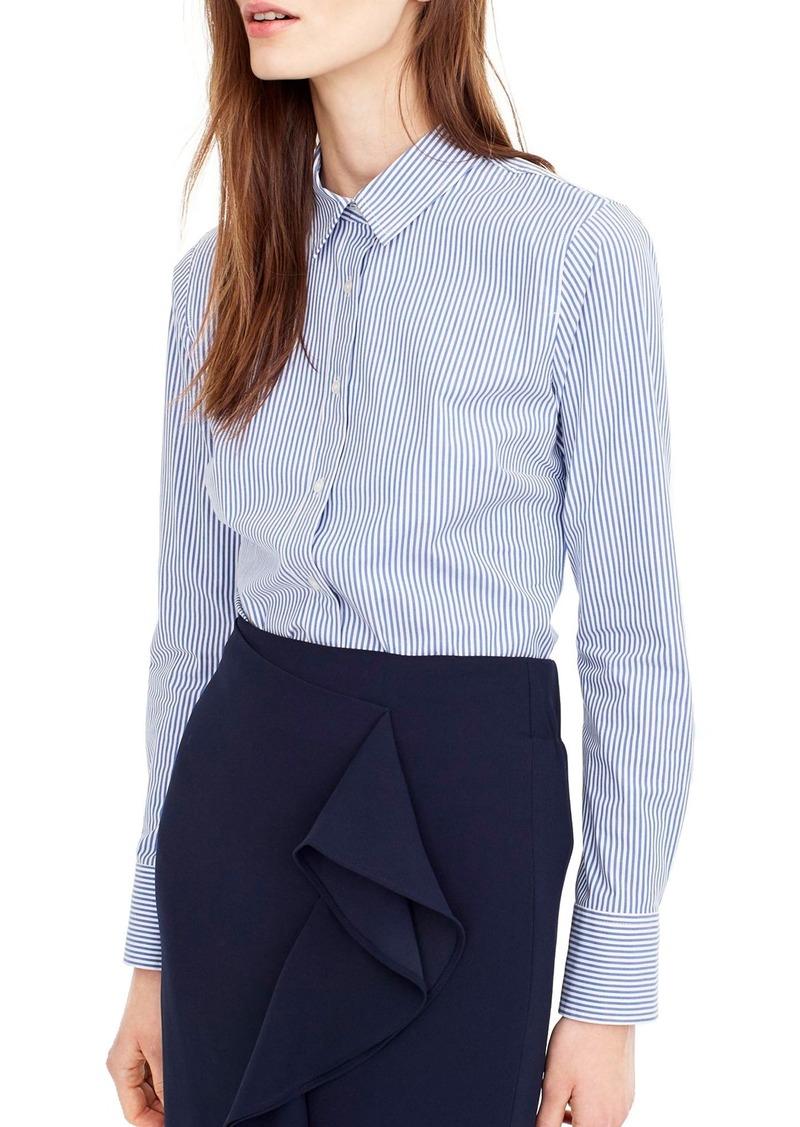 460ca884 J.Crew J.Crew Classic Stripe Stretch Perfect Cotton Shirt (Regular ...