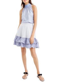 J.Crew Cocktail Stripe Ruffle Skirt