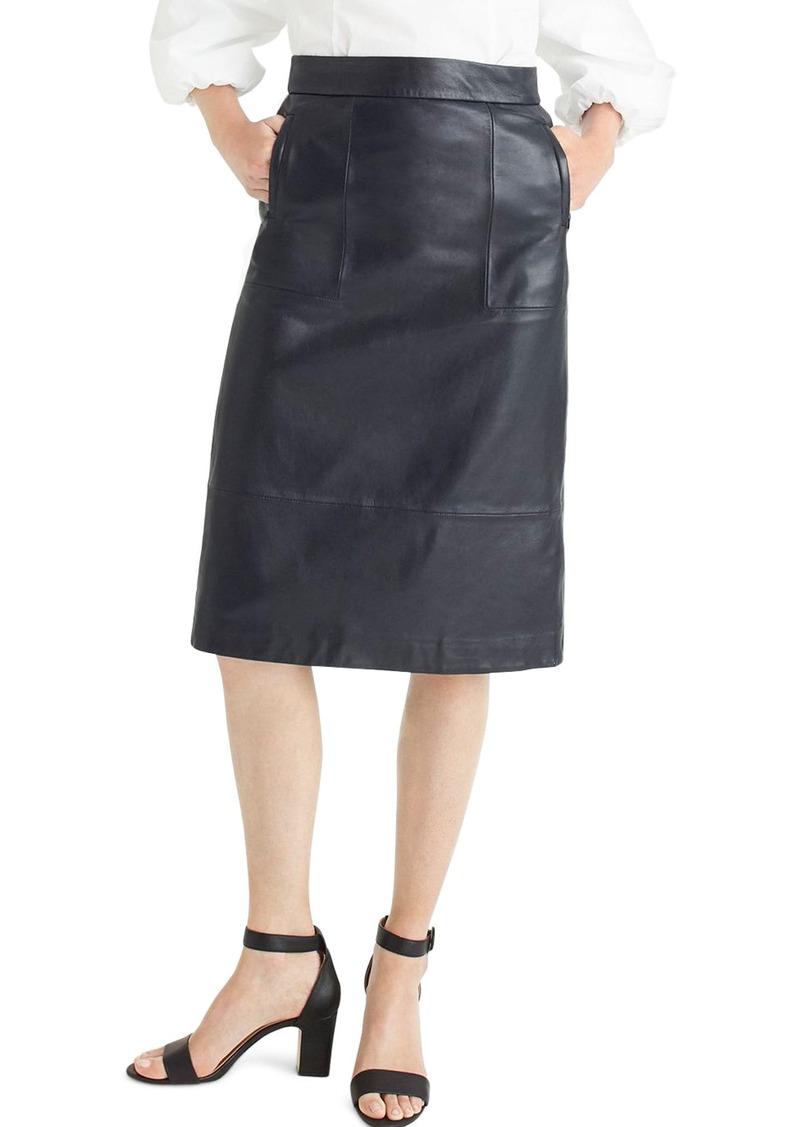 9ece38d54f47 J Crew Double Serge Cotton Pencil Skirt