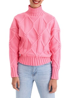 J.Crew Collection Cable Mock Neck Sweater