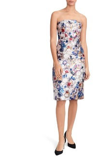 J.Crew Collection Floral Jacquard Strapless Dress