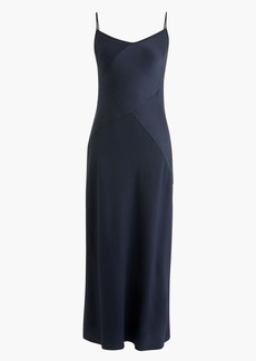 J.Crew Collection Mixed Satin-Crepe Slipdress