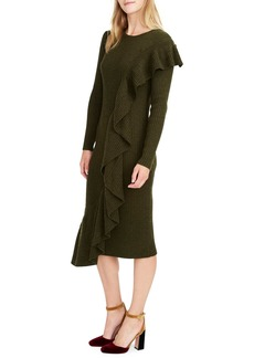 J.Crew Collection Ruffle-Front Sweater Dress