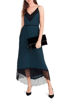 J.Crew Collection Spaghetti Strap Pleated Midi Dress