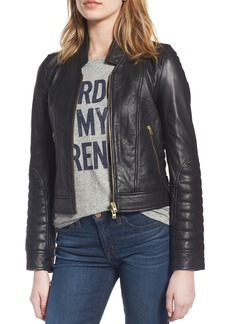 J.Crew Collection Stand Collar Leather Jacket