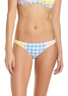J.Crew Colorblock Gingham Low Rise Bikini Bottoms