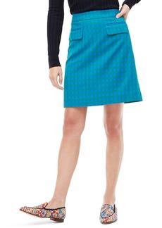 J.Crew Colorful Gingham Front Flap Pocket Skirt