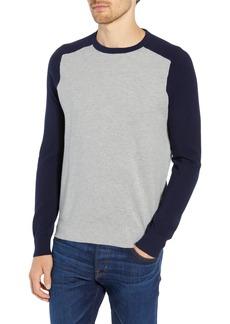 J.Crew Cotton & Cashmere Baseball Sweater