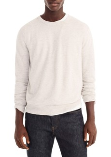 J.Crew Cotton & Cashmere Piqué Crewneck Sweater