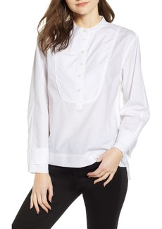 J.Crew Cotton Tuxedo Popover Top (Regular & Petite)