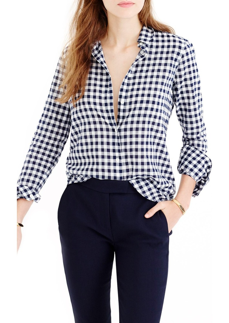 J.Crew Crinkle Gingham Boy Shirt (Regular & Petite)