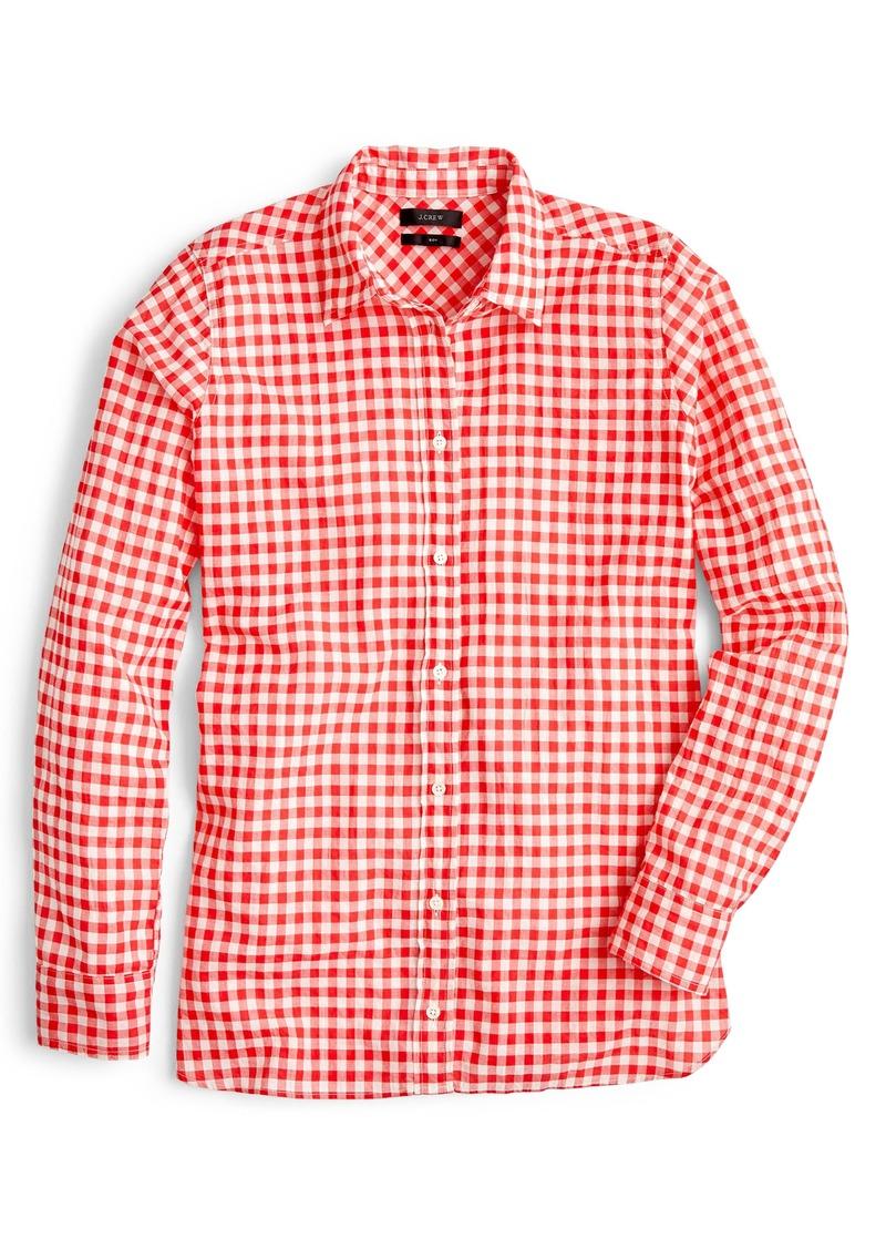 225bb9126d567 J.Crew J.Crew Crinkle Gingham Boy Shirt (Regular & Petite)   Casual ...