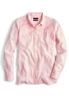 J.Crew Crinkle Gingham Boy Shirt (Regular & Petite)