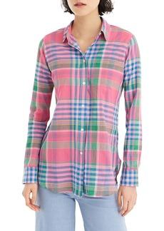 J.Crew Crinkle Plaid Classic-Fit Boy Shirt
