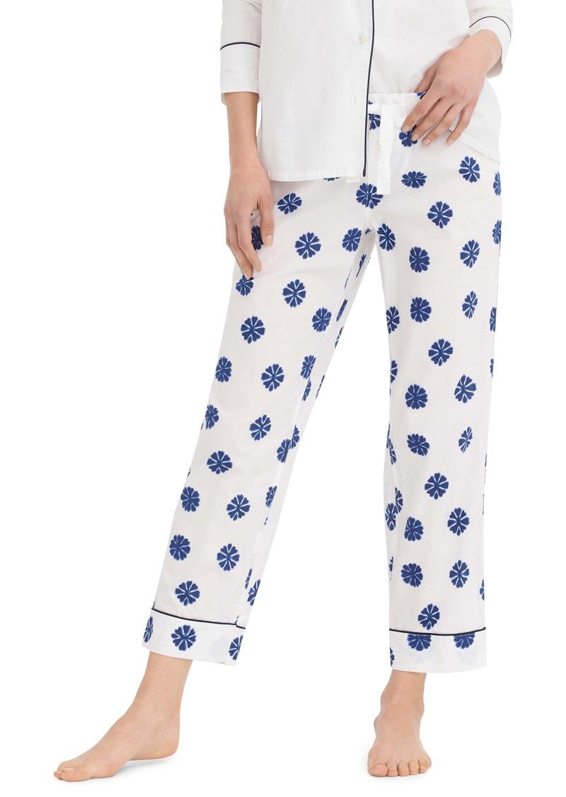 J.Crew Crop Lightweight Cotton Pajama Pants