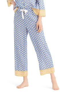J.Crew Cropped Cotton Wide Leg Pajama Pants