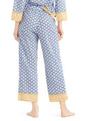 J.Crew Cropped Cotton Wide Leg Pajama Pants