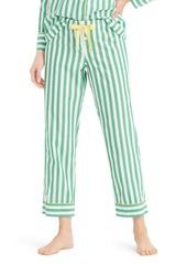 J.Crew Cropped Lightweight Stripe Cotton Pajama Pants