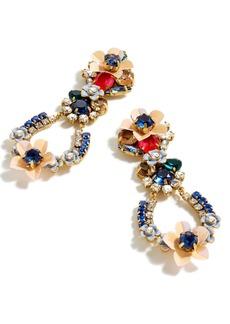 J.Crew Crystal & Flower Earrings