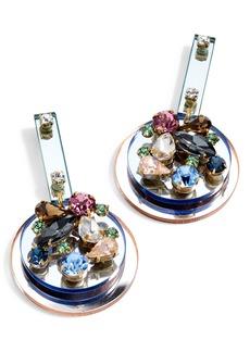 J.Crew Crystal & Lucite® Mirror Earrings