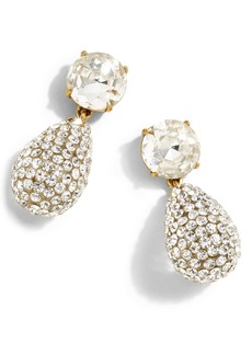 J.Crew Crystal & Pavé Teardrop Earrings