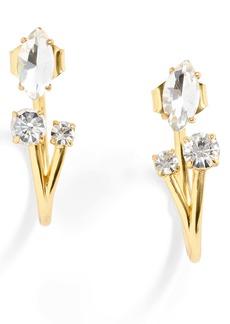 J.Crew Crystal Cluster Jacket Earrings