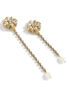 J.Crew Crystal Floral Drop Earrings