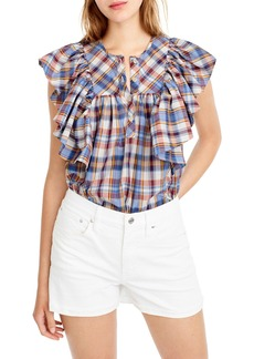 J.Crew Danny Hula Plaid Top (Regular & Petite)