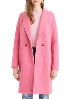 J.Crew Daphne Boiled Wool Topcoat (Regular, Petite & Plus Size)