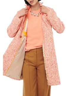 J.Crew Daphne Italian Tweed Topcoat (Regular & Plus Size)